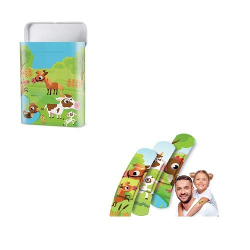 """Box de 40 pansements enfant""""Animaux de la ferme"""" - 60 x 17 mm"""