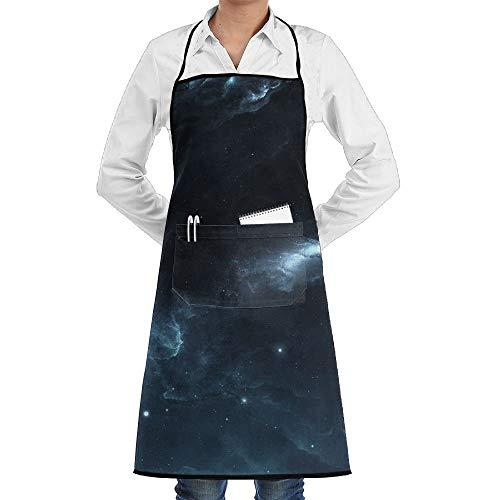 Kostüm Nebula Space - dfgjfgjdfj Space Nebula Galaxy Schürze Lace Unisex Mens Womens Chef Adjustable Polyester Long Full Black Cooking Kitchen Schürzes Bib with Pockets for Restaurant Baking Crafting Gardening BBQ Grill