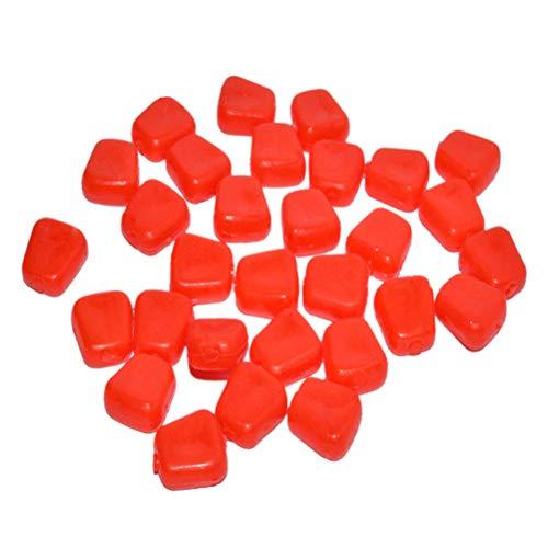 VORCOOL 50 Stück künstliche Angelköder Silikon Angel Mais Köder Fischköder (Rot)
