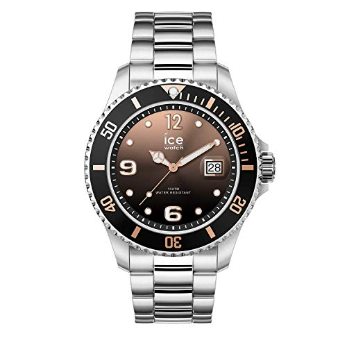 Ice-watch - ice steel black sunset silver - orologio soldi da donna con cinturino in metallo - 016768 (medium)
