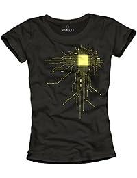 Coole T-Shirts für Girls GEEK CPU schwarz Größe S M L