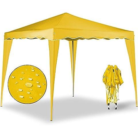 Pabellón Capri 3x3 m color amarillo – Carpa Plegable Tienda de Jardín Protección Solar Pop Up