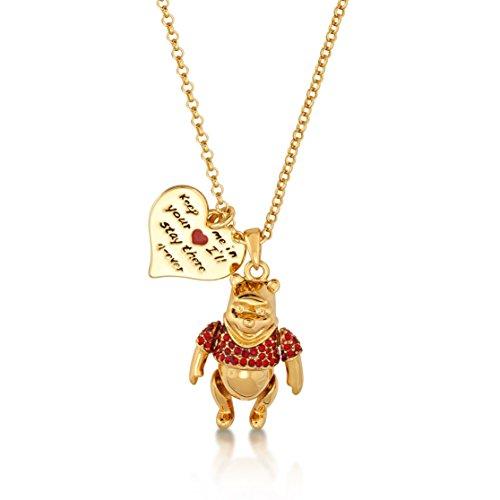 Disney Couture oro y cristal Winnie the Pooh oso colgante collar