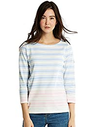 Joules Harbourhemblk 3/4 Length Block Stripe Jersey Womens Top (Y)