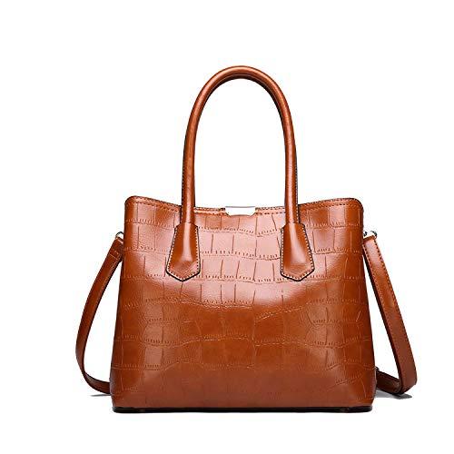 Summer Fashion Damen Tasche Leder Handtasche Schultertasche Messenger Bag Composite Bag, Braun - braun - Größe: Einheitsgröße -