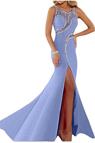 ivyd ressing Femme luxurioes fente col rond pierres Party robe Lave-vaisselle robe robe du soir Violet - Lilas