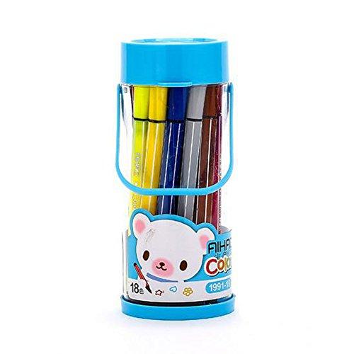 Kinder Wasser Färbung Stifte Bulk in Portable Barrel 18pcs waschbare Marker für Jungen Mädchen Zeichnung Set