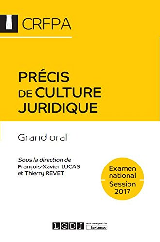 Précis de culture juridique - Examen national Session 2017