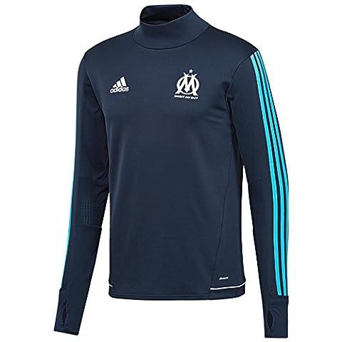 Adidas Performance Haut D'entrainement Om Training Bleu Haut Entrainement Club Homme Football