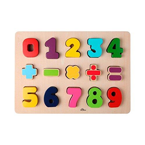 SOLINI 15-tlg. Holzpuzzle Zahlen