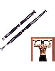 OneTwoFit Barras de Dominadas Barra de Tracción de Fitness Musculación Pared Puerta Chin Up Barra Horizontal de Gimnasio en Casa HK664