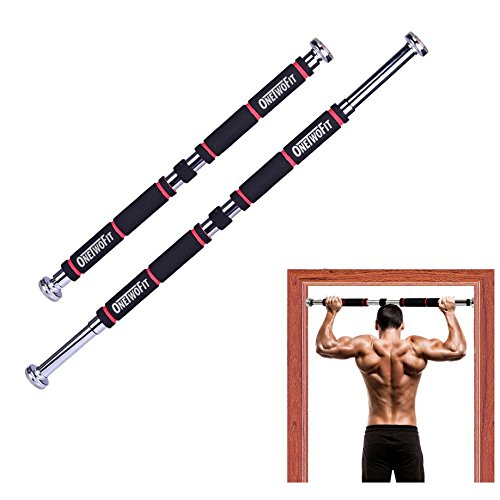 OneTwoFit Barre de Traction Porte Gym Barre de Tractions Musculation Murale Horizontale Exercice Fitness HK664