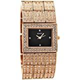 Seksy Womens Ladies 4858 Rose Gold Style Stone Set Bracelet Wrist Watch