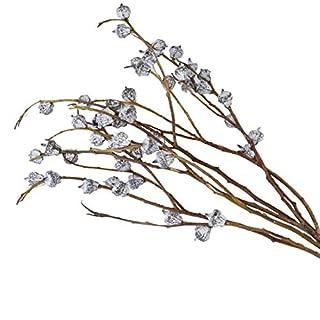 AUTOP Importierte getrocknete Blume Heu Eukalyptus Dekoration Shooting Requisiten DIY Blumenarrangement Literarischer Stil Frisch Natürliche getrocknete Blume Weiß 50 cm