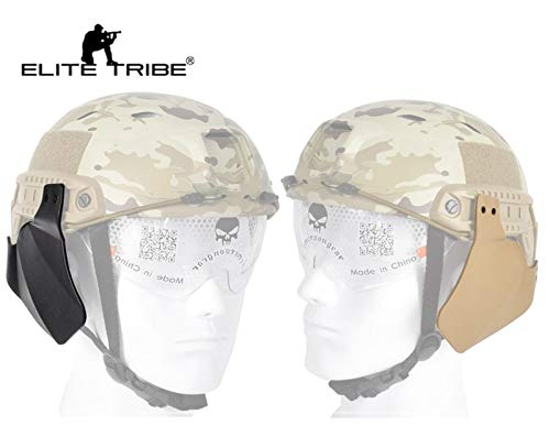 Elite Tribe Tactical - Funda Protectora para Casco (Incluye Protector Lateral), Negro