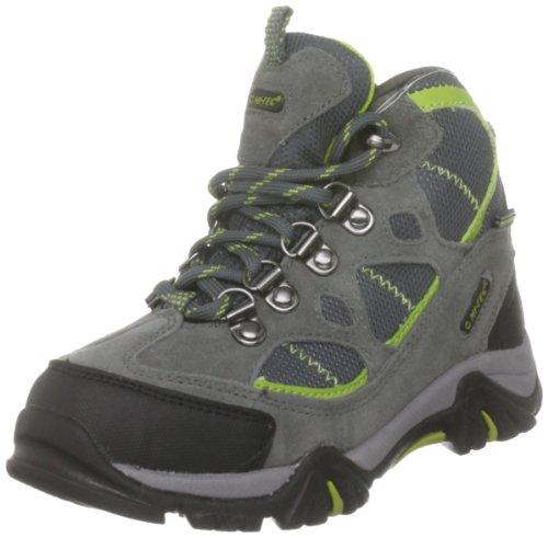 Hi Tec Renegade Trail WP JR HOH1098000, Unisex - Kinder Sportschuhe - Outdoor, Grau (Graphite/Dk.Grey/Chartreuse 051), EU 30 (UK 11) (US 12)