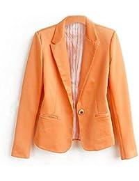 36c09f4b7b5a Donna Blazer Primaverile Autunno Bavero Maniche Lunghe Business Chic  Ufficio Giacche Slim Fit Parigine Moda Eleganza Stile Stile Tailleur…