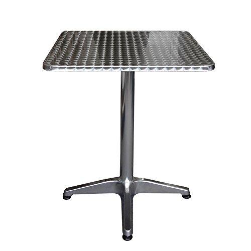 Wohaga® Bistrotisch, Aluminium, 60x60cm, 4er-Fuss, klappbar ...