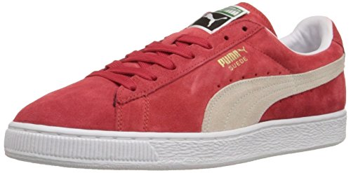 Puma Suede Classic + Herren Sneakers, High Risk Red-White, 43 EU (Puma Red Collection)