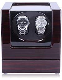 HiPai Automática Watch Winder de Doble Reloj con Motor Silencioso 5 Modos de Rotación - Caja Madera Negra ébano