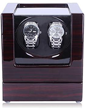 hipai Automatische Double Uhrenbeweger mit leiser Motor 5Rotation Modi–Ebenholz Schwarz Holz Box