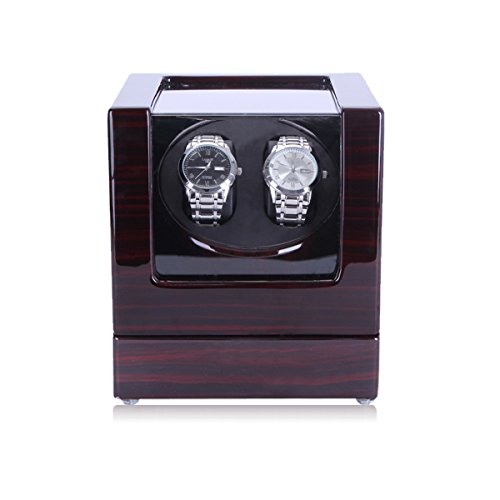 HiPai-Automtica-Watch-Winder-de-Doble-Reloj-con-Motor-Silencioso-5-Modos-de-Rotacin-Caja-Madera-Negra-bano