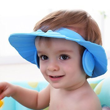 Inovera Baby Infant Kids Children Toddler Shampoo Bath Shower Cap Wash Hair Ear Shield,Blue