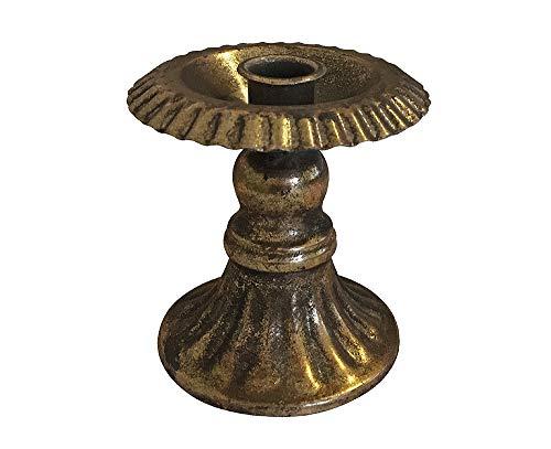zeitzone Kerzenhalter Kelch Antik-Stil Kerzenständer Metall Gold patiniert 10,5cm
