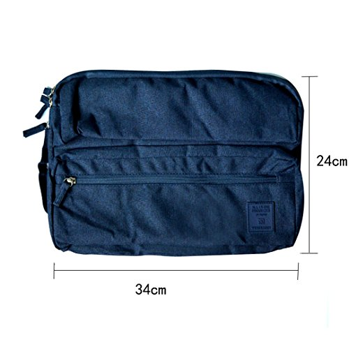 LAHAUTE Business stoßfest Aktentasche Laptop Tasche Handtasche Clutch Macbook Tasche schwarzblau 13 zoll schwarzblau