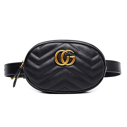 FXTKU 2018 Damen Geldbörse Mini Handy Tasche Stern mit dem gleichen Absatz samt Brustbeutel samt ovalen Taschen umhängetasche damen klein handtasche(Schwarz 1)