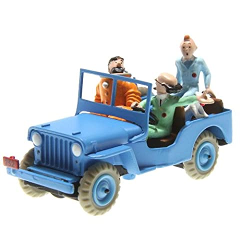 Voiture miniature jeep cj 2a TINTIN objectif lune willys 1/43
