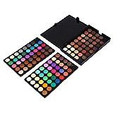 Zerone 120 Farben Professional Shimmer Matte Lidschatten-Palette Augen Make-up Kosmetik Set Kit Tool, 5,9 × 3,9 Zoll