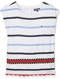 Tommy Hilfiger Embellished Rayon Stripe Top S/S, Débardeur Fille