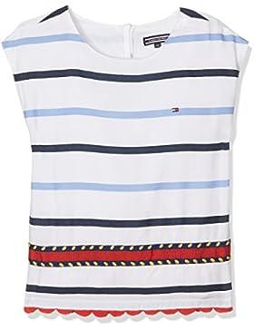 Tommy Hilfiger Mädchen Embellished Rayon Stripe Top S/S