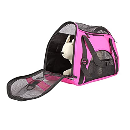 Dromedary Portable Pet Carrier Airline Approved Travel Crate Tote Puppy Handbag For Pet Dog Cat 3