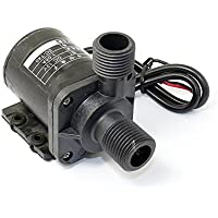 Q-BAIHE 12V Mini Bomba de Agua sin Cepillo magnético (Alta Temperatura de 100 Grados) w/Autor ZC-T40