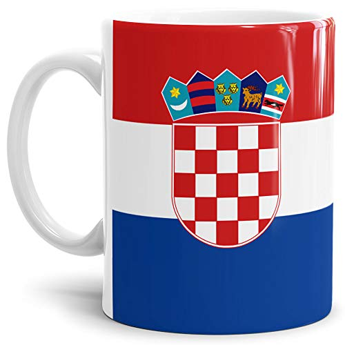 Tassendruck Flaggen-Tasse Kroatien - Kaffeetasse/Mug / Cup - Qualität Made in Germany