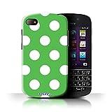Stuff4 Hülle / Hülle für Blackberry Q10 / Grün Muster / Tupfen Muster Kollektion