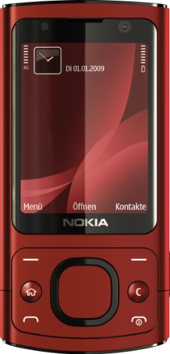 Nokia 6700 Slide Handy (UMTS, GPRS, Bluetooth, Kamera mit 5 MP, Musik-Player) red -