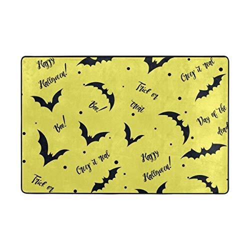 deyhfef Teppich Happy Halloween Süßes oder Saures Fußmatte 15.7 x 23.6, Wohnzimmer Schlafzimmer Küche Badezimmer Dekorative Einzigartige Leichte Gedruckte Teppiche Teppich (Happy Halloween-lustiges Meme)