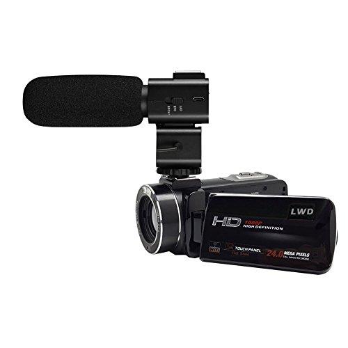 Shotgun-mikrofone (LWD 1080p Full HD Wifi Digital-Videokamera 30FPS 24MP 16X Zoom Digital-Videokamera mit externem MIC-Digital-Camcorder mit professioneller Kamera montiert Shotgun Boom-Mikrofon (Z20))