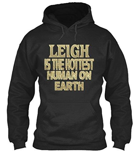 teespring Men's Novelty Slogan Hoodie - Leigh Hottest/Leigh Sensationnel