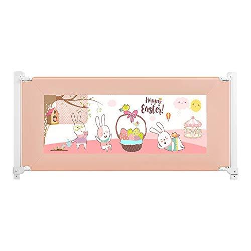 Bettgitter HUO Safety 1st Tragbares Bett Schutz Bett Schiene Für Kleinkind-Baby U Leicht Tragbar Mit Verhindert Das Herausfallen (Farbe : Rosa, größe : 180cm)
