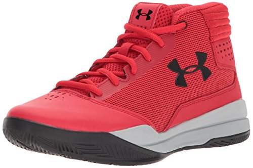 Fuß-spa-jet (Under Armour Jungen UA BGS Jet 2017 Basketballschuhe, Rot (Pierce), 38.5 EU)