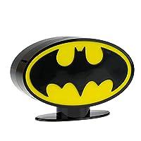 DC Comics Originals logo iconico supereroe salvadanaio con caramelle latte Lollipops. Il ultimate in denaro scatole con logo design dal famoso personaggio noto e amato da fumetto ventole ovunque. Disponibile modelli: Superman Batman con sapor...