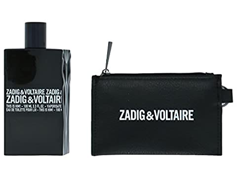 Zadig & Voltaire This Is Him giftset, Eau de Toilettespray, Black Wallet, 1er Pack (1 x 100 ml)