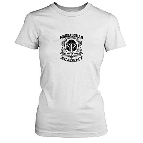 rian Academy - Damen T-Shirt, Größe XL, weiß (Star Wars Mandalorian Kostüme)
