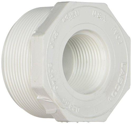 Genova Products 34320 PVC Sch. 40 Threaded Reducing Bushings, 2 x 1 by Genova