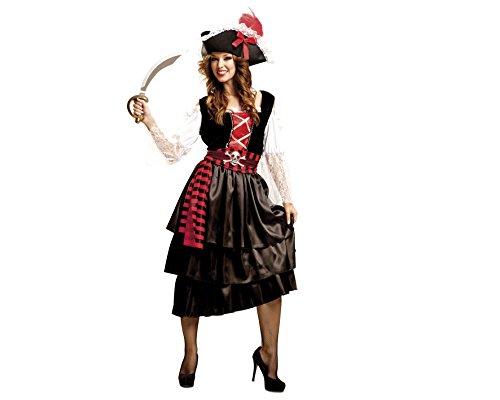 Piraten-Kostüm Glamour für Frauen M-L