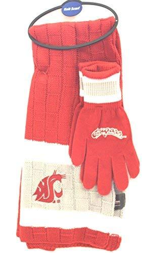 NCAA Washington, State Cougars Strickschal und Handschuh-Set